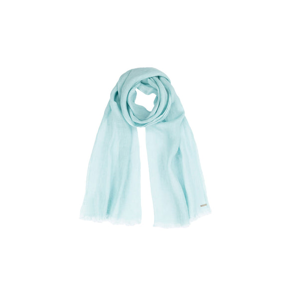 Metallic Gauzy Handloomed Scarf - Green Tint