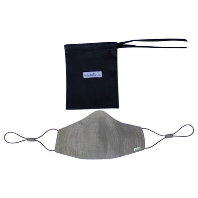 Lotus and Silk Face Mask - Grey