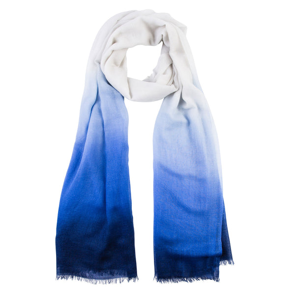 Peace Mountain Dip-dyed Scarf - Pink - 40% off