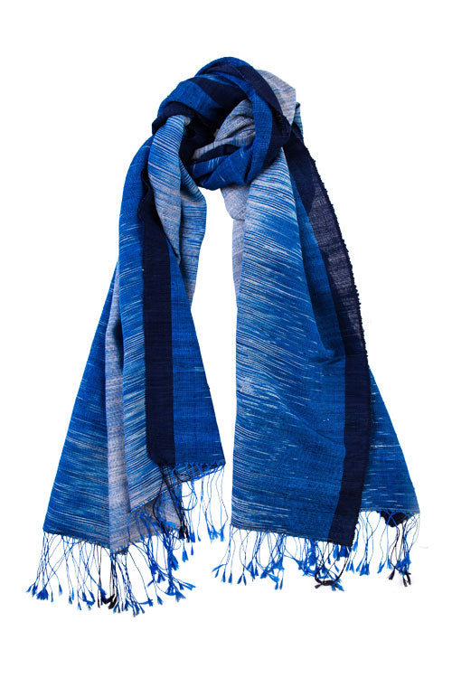 The Inle Heritage Ikat Shawl