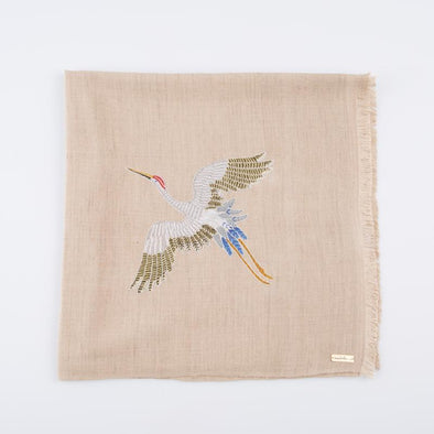 Spirit of Freedom Crane Scarf (Natural) - Lotus/Silk
