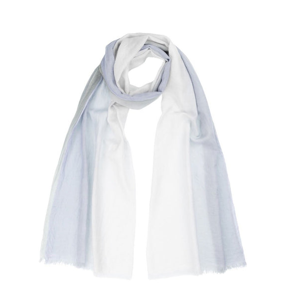 Peace Mountain Dip-dyed Scarf - Ocean - 40% off