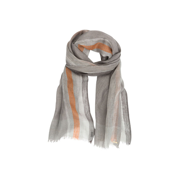 Orange Tipped Selvedge Edge Scarf