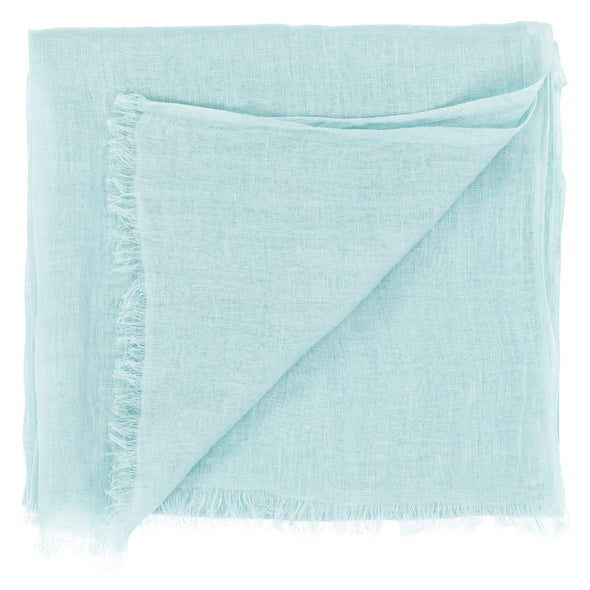 linen scarf in green