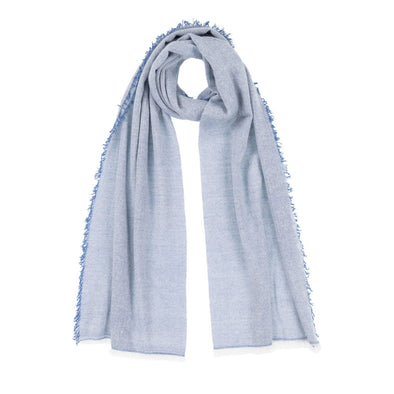 Serenity Cashmere and Seacell Scarf - Blue