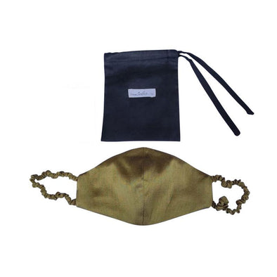 Covered Strap Face Mask - Olive