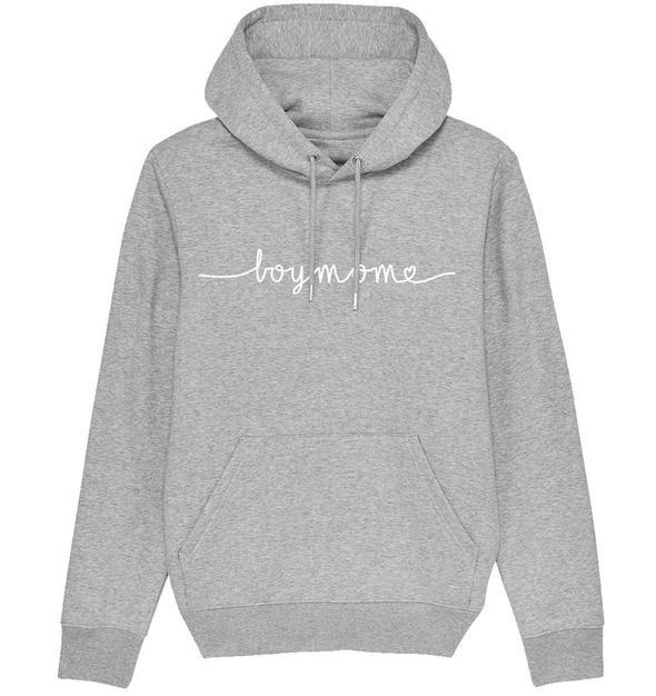 BOYMOM HANDWRITTEN - Organic Hoodie - FAMILY BY HEART