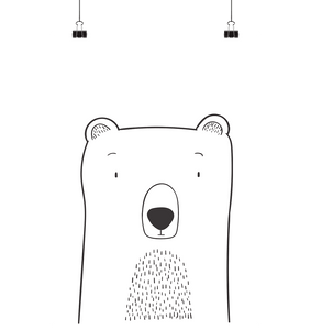 CUTE BEAR - Poster Din A3 (hoch) - FAMILY BY HEART
