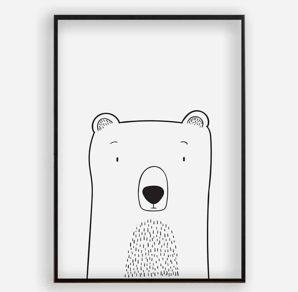 CUTE BEAR - Poster ohne Rahmen - FAMILY BY HEART