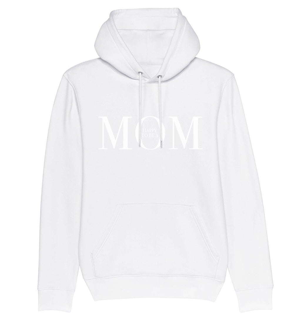HAPPY TO BE A MOM - Hoodie aus Bio-Baumwolle-Damen Hoodies-FAMILY BY HEART