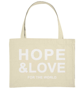 HOPE & LOVE FOR THE WORLD - Organic Shopping-Bag - FAMILY BY HEART