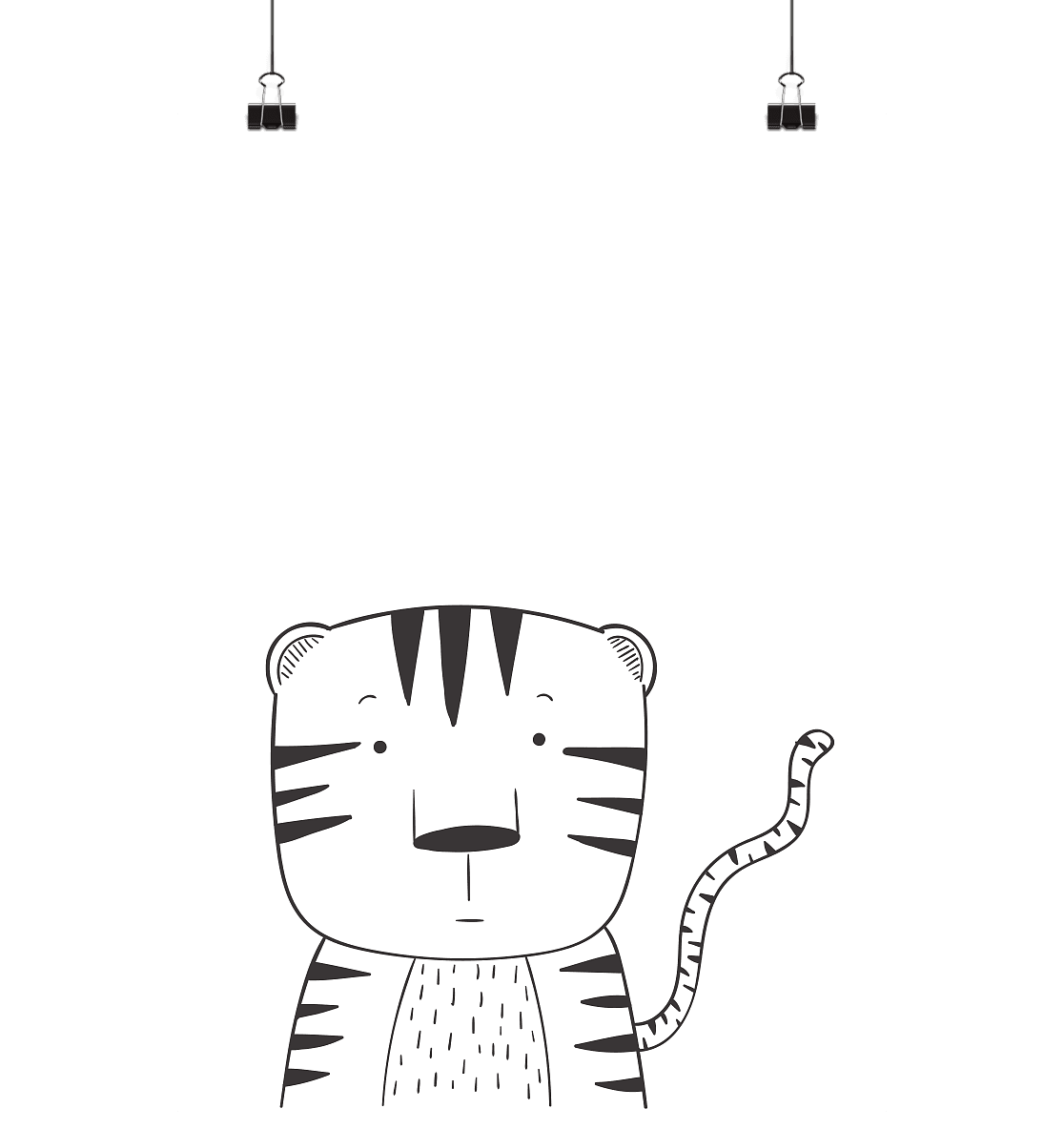 LITTLE TIGER - Poster Din A4 (hoch) - FAMILY BY HEART