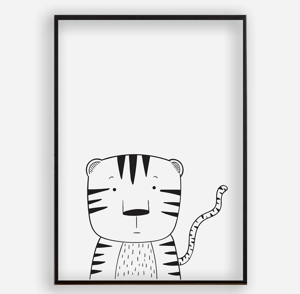 LITTLE TIGER - Poster ohne Rahmen - FAMILY BY HEART