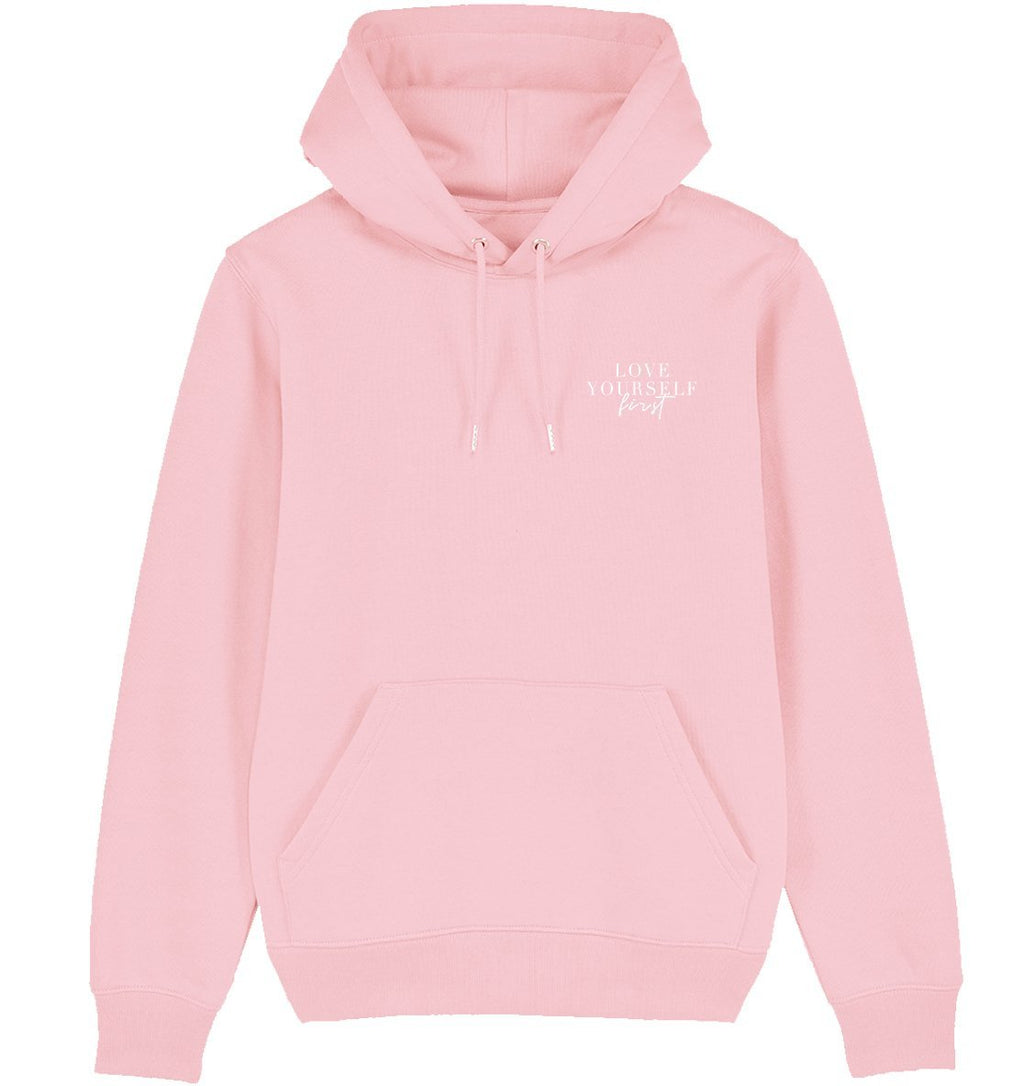 LOVE YOURSELF FIRST - Hoodie aus Bio-Baumwolle-Damen Hoodies-FAMILY BY HEART