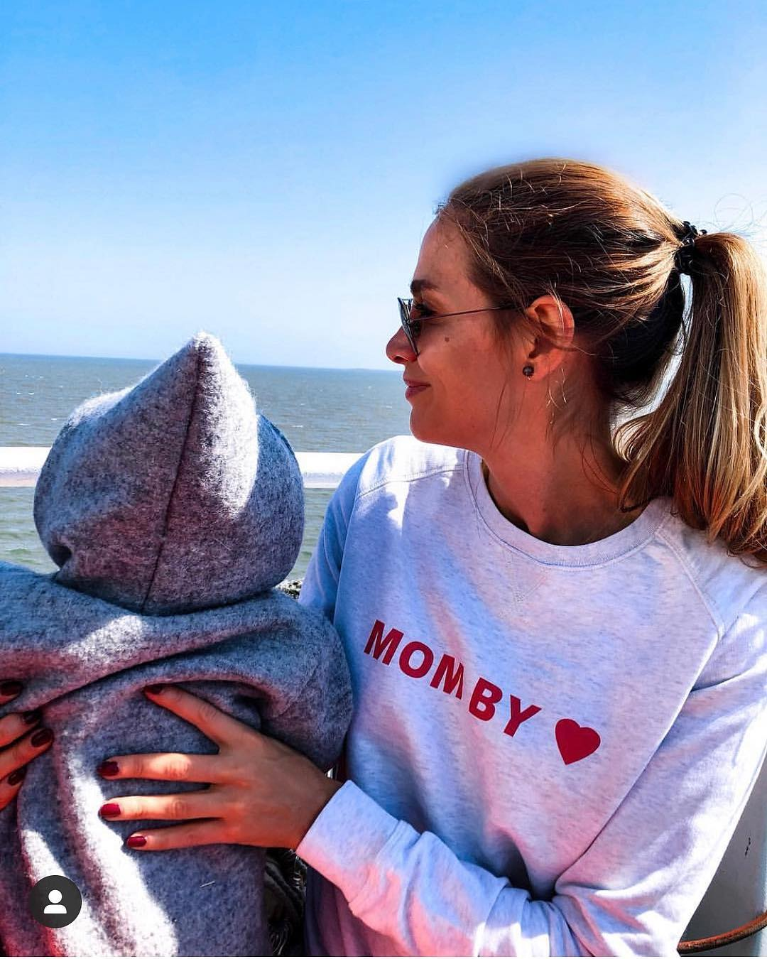 MOM BY HEART - Ladies Organic Sweatshirt-Sweatshirts-FAMILY BY HEART