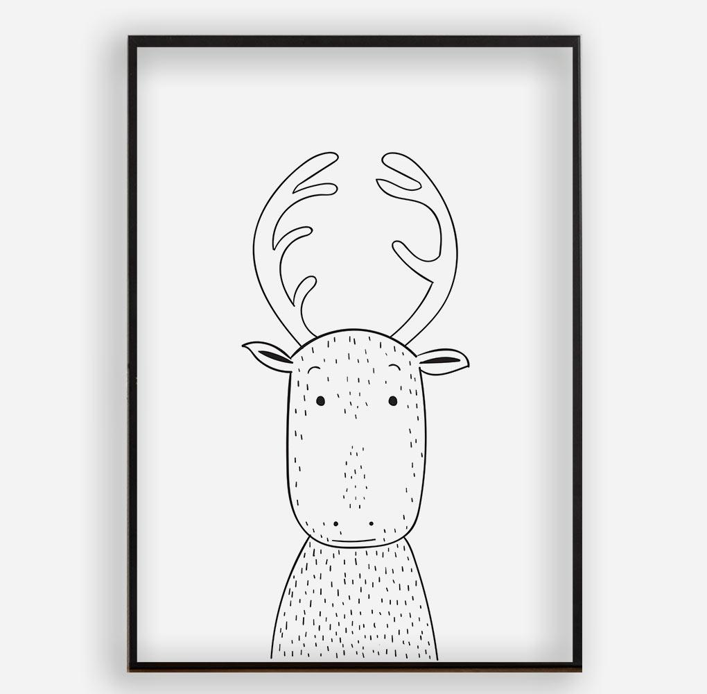 REINDEER - Poster ohne Rahmen - FAMILY BY HEART