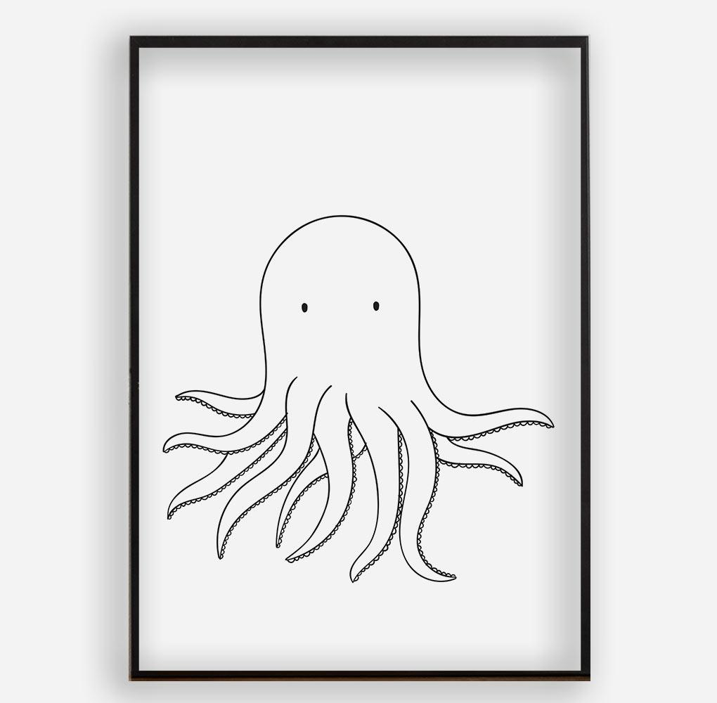 SQUID - Poster ohne Rahmen - FAMILY BY HEART