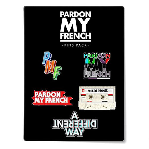 PARDON MY FRENCH PIN'S PACK (OPTION : PIN'S PACK 3)