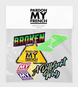 PARDON MY FRENCH PATCHES PACK (OPTION : PATCHES PACK 2)