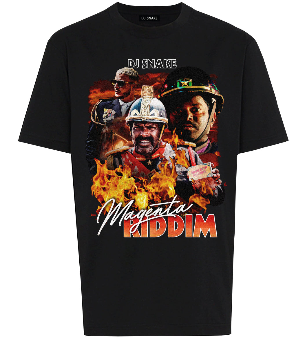 MAGENTA RIDDIM  T-SHIRT RETRO 90'S Limited Edition