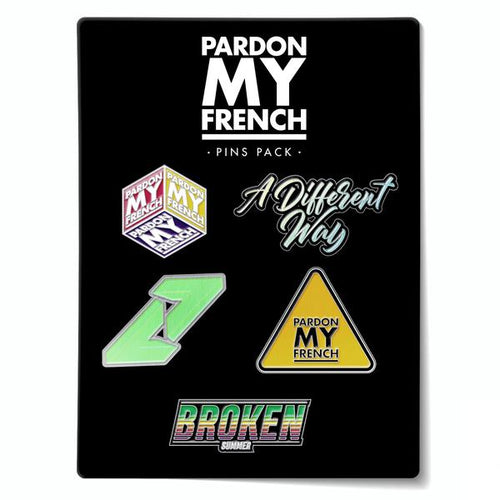 PARDON MY FRENCH PIN'S PACK (OPTION : PIN'S PACK 2)