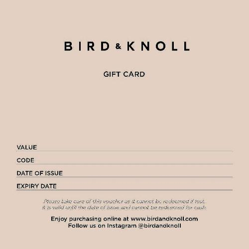 BIRD AND KNOLL GIFT CARD