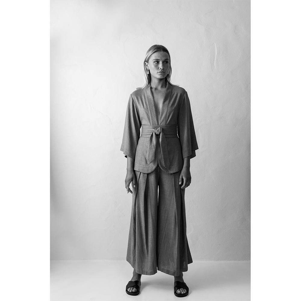 noelle linen pant - sample