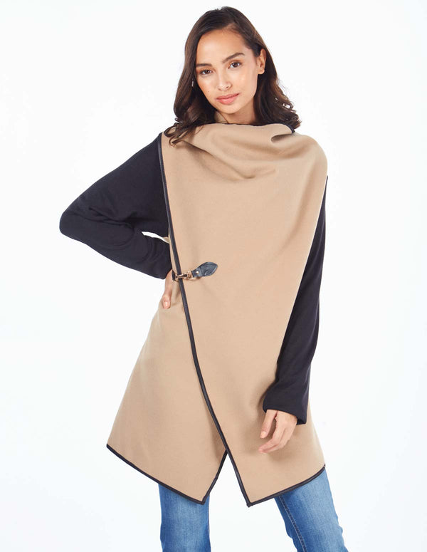 NEDA - Clip Detail Double Breast Camel Coat