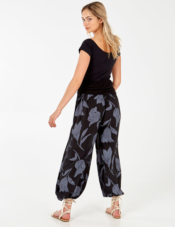 KETTY - Floral Blue Joggers