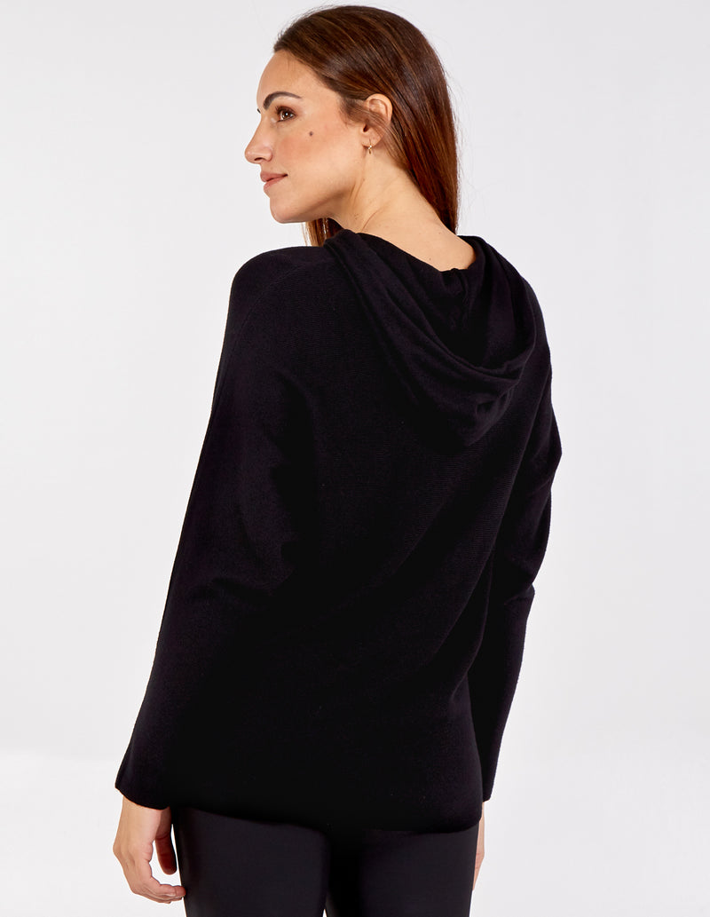 CONSTANCE - Lips Hooded Long Sleeve Jumper