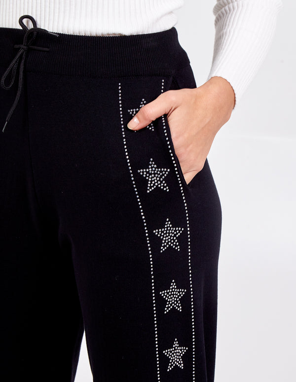 CORA - Embellished Star And Stripe Cuffed Jogger