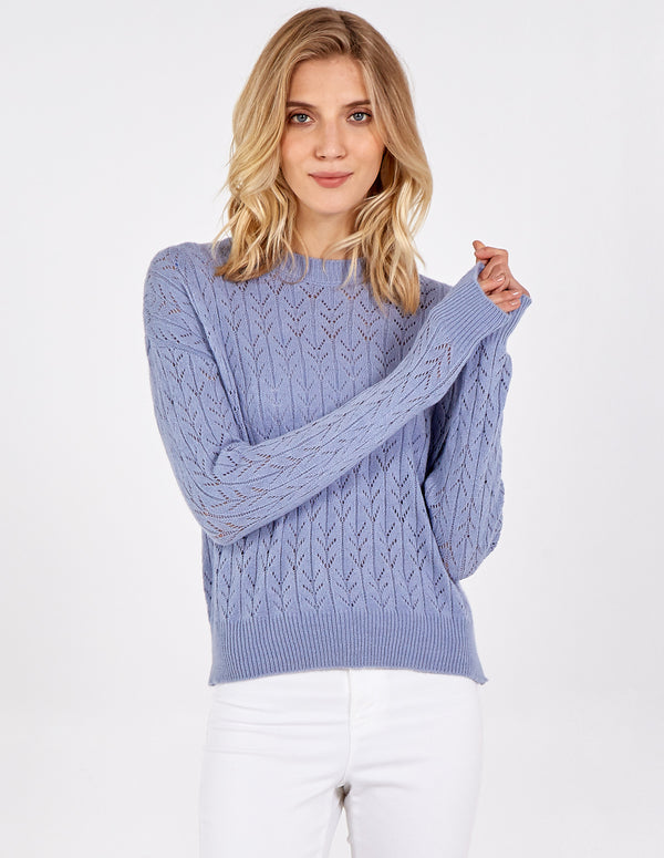 ASHLEIGH - Crochet Knit Jumper