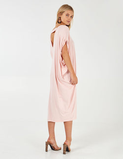 BIRDIE - Pink Oversized Batwing Dress