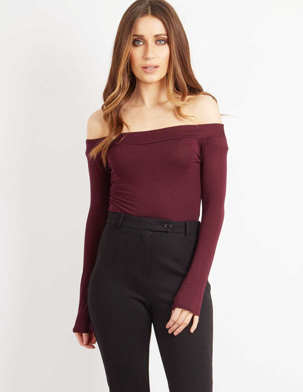 HOLLY - Wine Bodysuit