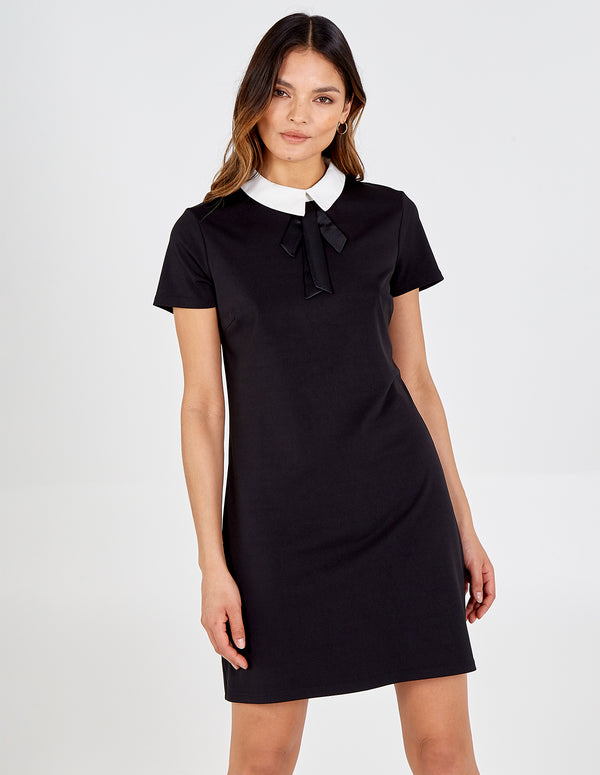 KAMALA - Collar & Bow Neck Dress