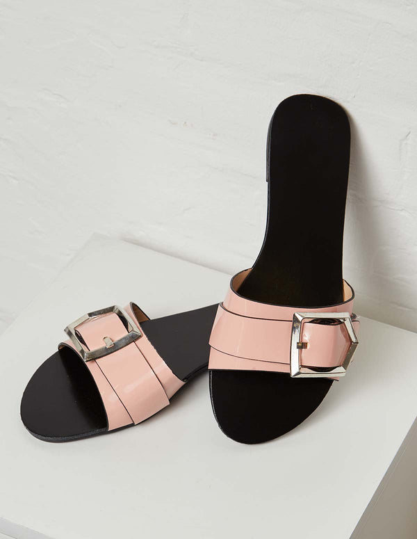 SONIA – Buckle Detail Strap Pink Flat