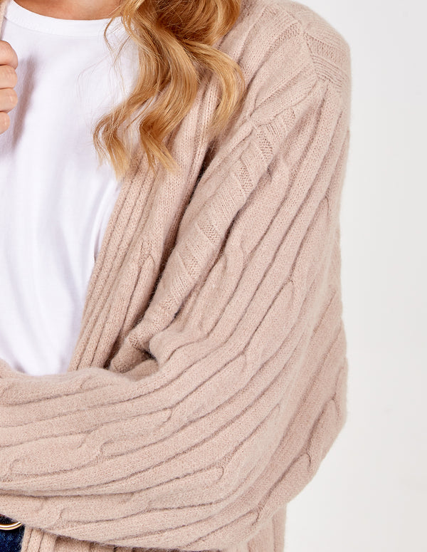 HARRIETT - Cable Rib Batwing Cardigan
