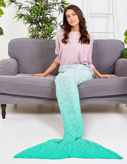 KORA - Ombre Blue Mermaid Blanket