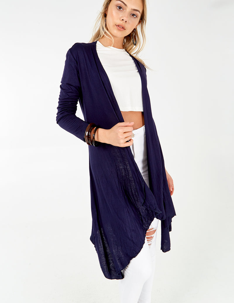 AKAYLA - Navy Basic Cardigan