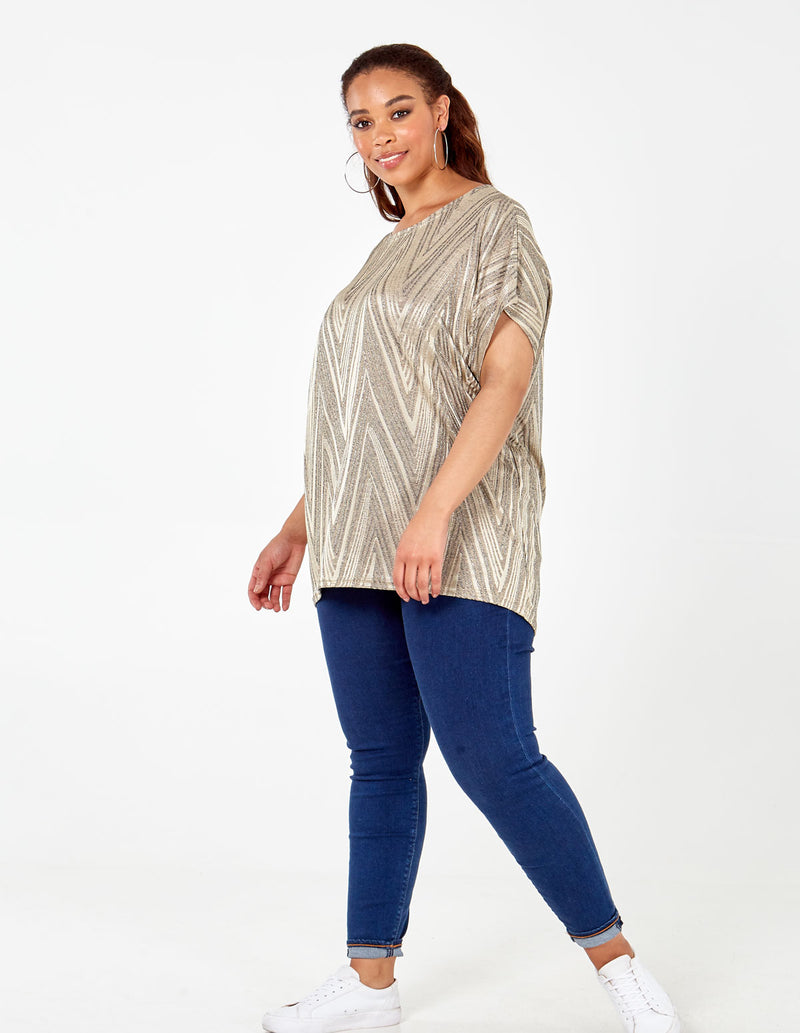 NATASHA - Curve Zig Zag Brushed Top