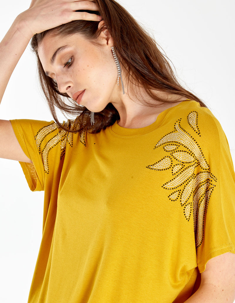 RUBY - Embroidered Shoulder Detail Top