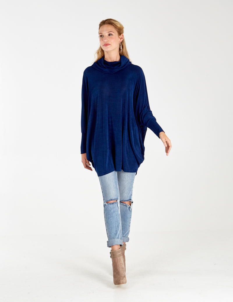MATILDA - Cowl Neck Oversized Batwing Top