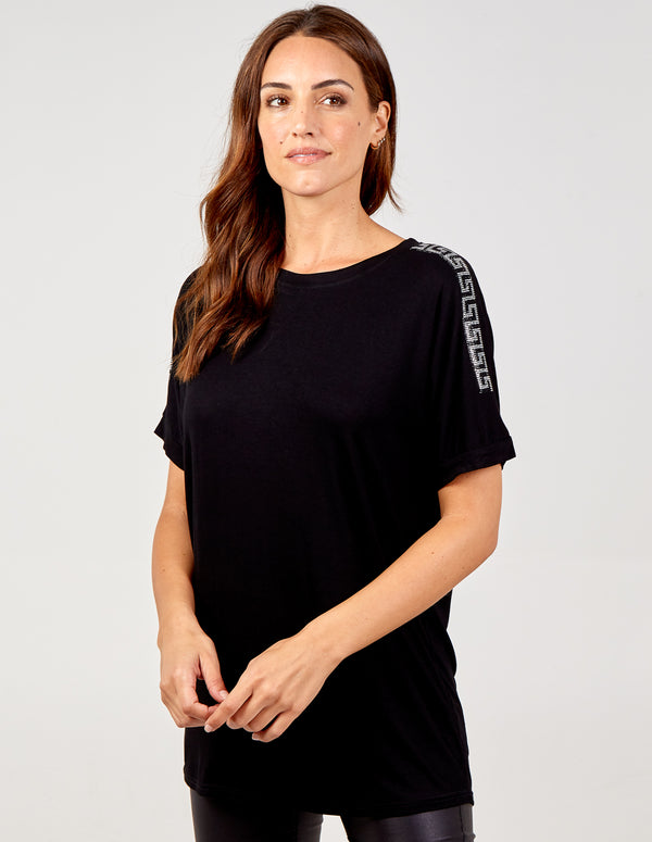 ADELASIA - Diamante Sleeves Top