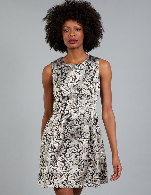 NELLY - Sleeveless Jacquard Dress