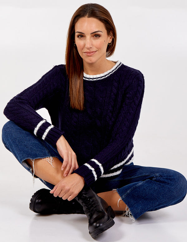 JANE - Cricket Crew Neck Jumper