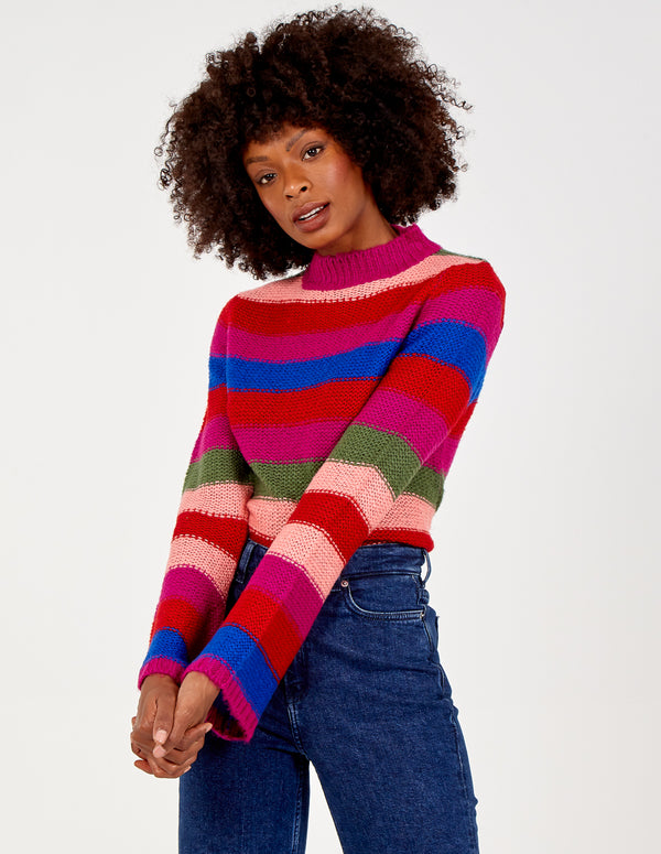 FLORRIE - Multi Colour Rainbow Jumper