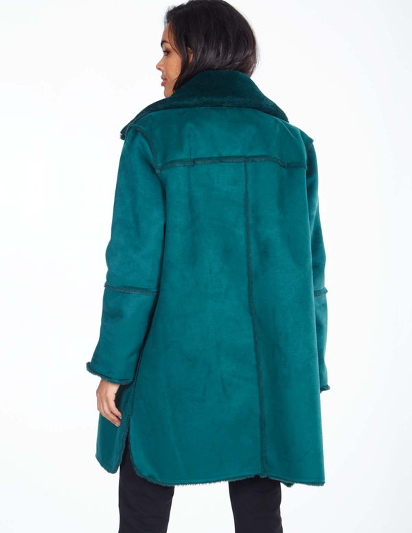 MERCER - Green Reversable Shearling Coat