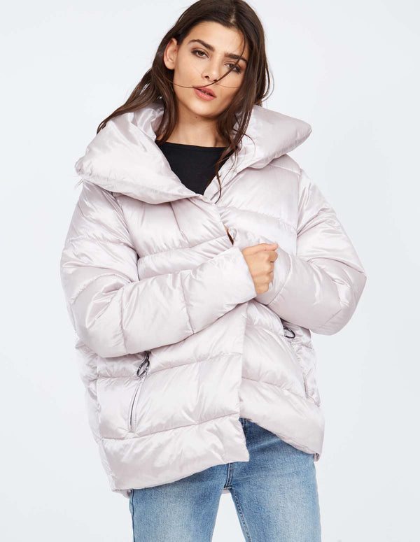 PRUDENCE - Metallic Wrap Over Puffer