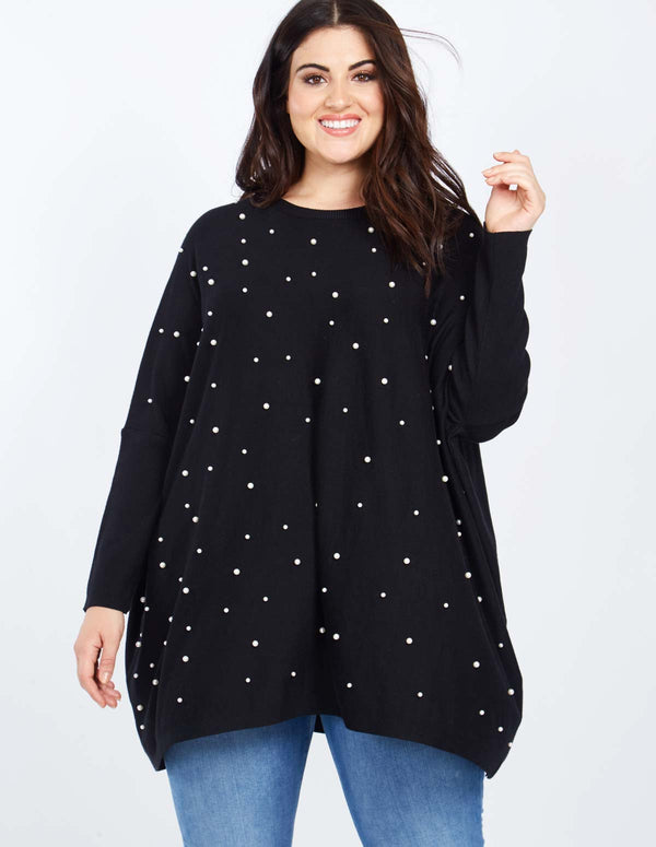JESSICA - Curve Scatter Pearl Batwing Jumper
