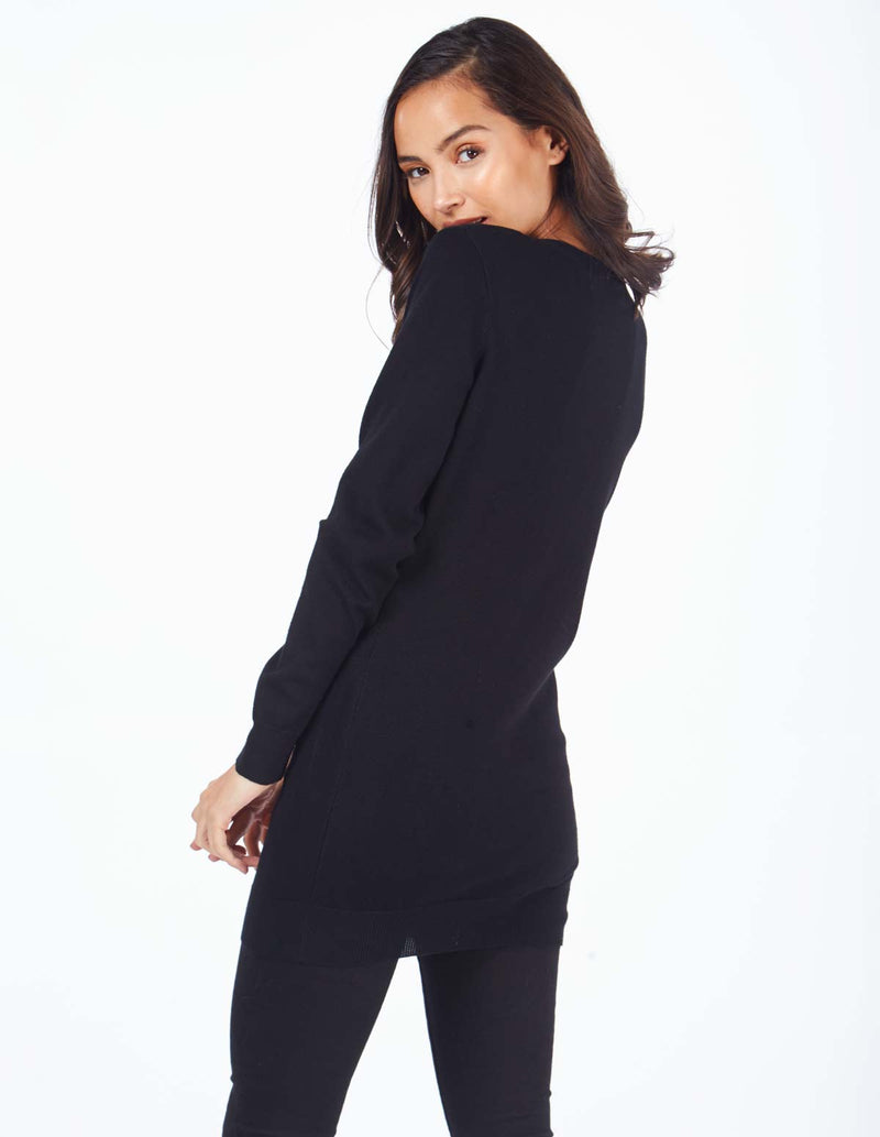 LAELIA - Snow Probs Black Jumper Dress
